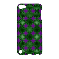 Mod Green Purple Circles Pattern Apple Ipod Touch 5 Hardshell Case by BrightVibesDesign