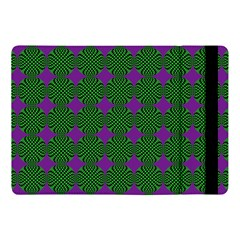 Mod Green Purple Circles Pattern Apple Ipad 9 7 by BrightVibesDesign