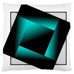 Square Large Flano Cushion Case (one Side) by JMMMedia