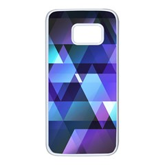 Triangles! Samsung Galaxy S7 White Seamless Case