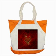Wonderful Decorative Heart In Gold And Red Accent Tote Bag
