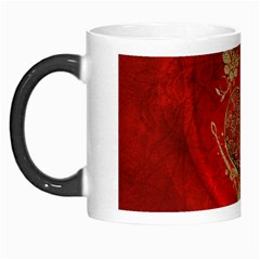 Wonderful Decorative Heart In Gold And Red Morph Mugs by FantasyWorld7