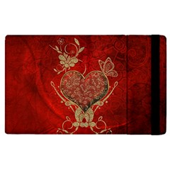 Wonderful Decorative Heart In Gold And Red Ipad Mini 4 by FantasyWorld7