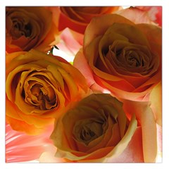 Orange Roses Large Satin Scarf (square) by bloomingvinedesign