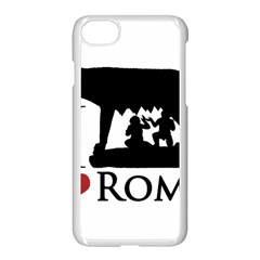 I Love Rome Graphic Icon Apple Iphone 8 Seamless Case (white) by dflcprints