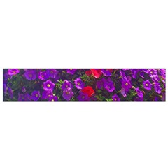 Purple Petunias Small Flano Scarf by bloomingvinedesign