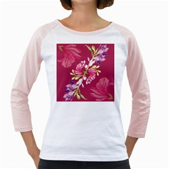 Motif Design Textile Design Girly Raglan