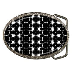 Black And White Pattern Belt Buckles