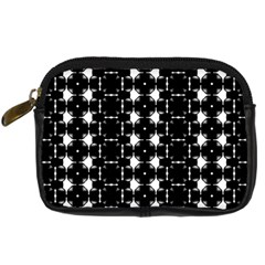 Black And White Pattern Digital Camera Leather Case