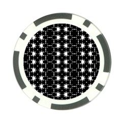 Black And White Pattern Poker Chip Card Guard (10 Pack)