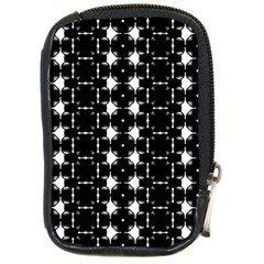 Black And White Pattern Compact Camera Leather Case