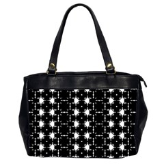 Black And White Pattern Oversize Office Handbag (2 Sides)