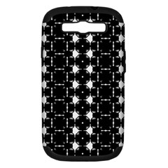 Black And White Pattern Samsung Galaxy S Iii Hardshell Case (pc+silicone)