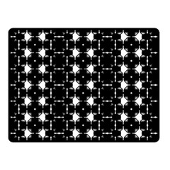 Black And White Pattern Double Sided Fleece Blanket (small)  by Simbadda