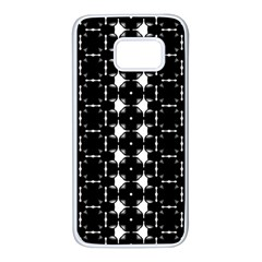 Black And White Pattern Samsung Galaxy S7 White Seamless Case