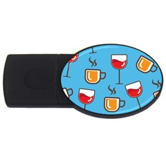 Design Decoration Decor Pattern Usb Flash Drive Oval (2 Gb)