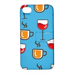 Design Decoration Decor Pattern Apple Iphone 4/4s Hardshell Case With Stand