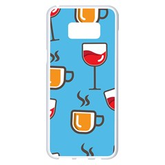 Design Decoration Decor Pattern Samsung Galaxy S8 Plus White Seamless Case by Simbadda