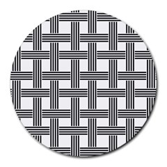 Seamless Stripe Pattern Lines Round Mousepads