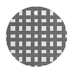 Seamless Stripe Pattern Lines Ornament (round) by Simbadda