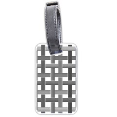 Seamless Stripe Pattern Lines Luggage Tags (one Side)