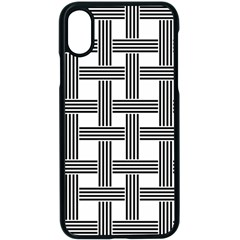 Seamless Stripe Pattern Lines Apple Iphone X Seamless Case (black)