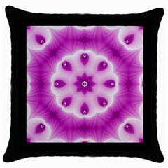 Pattern Abstract Background Art Throw Pillow Case (black) by Simbadda