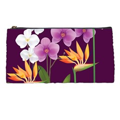 White Blossom Flower Pencil Cases by Simbadda