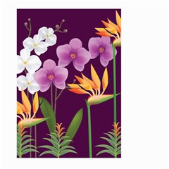 White Blossom Flower Large Garden Flag (two Sides) by Simbadda