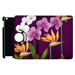 White Blossom Flower Apple Ipad 2 Flip 360 Case