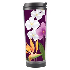 White Blossom Flower Travel Tumbler