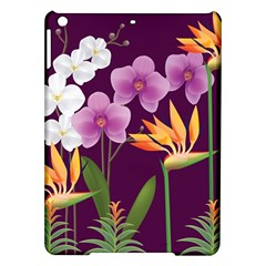White Blossom Flower Ipad Air Hardshell Cases by Simbadda