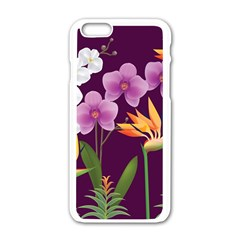 White Blossom Flower Apple Iphone 6/6s White Enamel Case by Simbadda