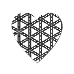 White Background White Texture Heart Magnet