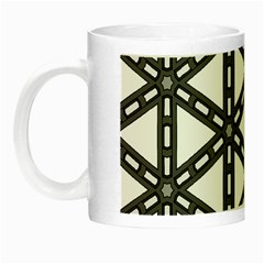 White Background White Texture Night Luminous Mugs