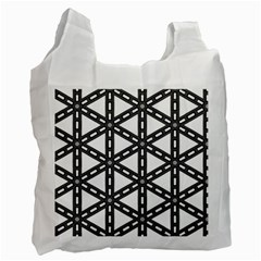 White Background White Texture Recycle Bag (one Side)