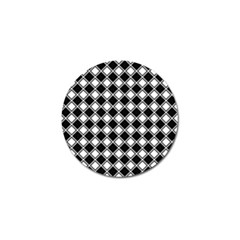 Square Diagonal Pattern Seamless Golf Ball Marker