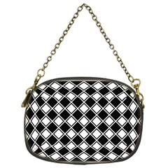Square Diagonal Pattern Seamless Chain Purse (one Side)