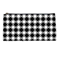 Square Diagonal Pattern Seamless Pencil Cases by Simbadda