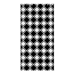 Square Diagonal Pattern Seamless Shower Curtain 36  X 72  (stall)  by Simbadda