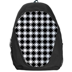 Square Diagonal Pattern Seamless Backpack Bag