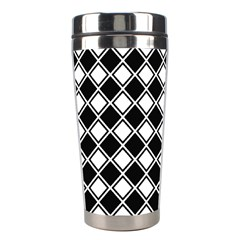 Square Diagonal Pattern Seamless Stainless Steel Travel Tumblers