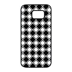 Square Diagonal Pattern Seamless Samsung Galaxy S7 Edge Black Seamless Case