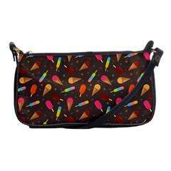 Ice Cream Pattern Seamless Shoulder Clutch Bag