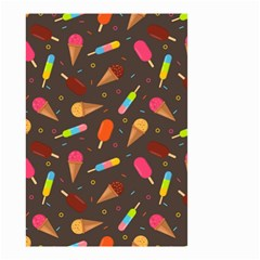 Ice Cream Pattern Seamless Small Garden Flag (two Sides)