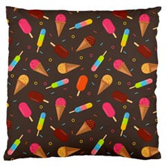 Ice Cream Pattern Seamless Large Cushion Case (two Sides) by Simbadda