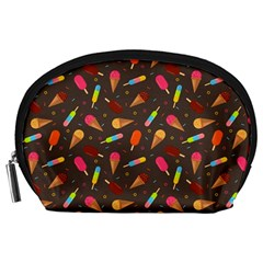 Ice Cream Pattern Seamless Accessory Pouch (large) by Simbadda