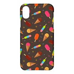 Ice Cream Pattern Seamless Apple Iphone X Hardshell Case by Simbadda