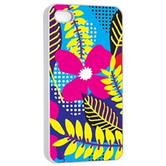 Design Decoration Decor Floral Pattern Apple Iphone 4/4s Seamless Case (white)