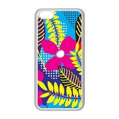 Design Decoration Decor Floral Pattern Apple Iphone 5c Seamless Case (white)